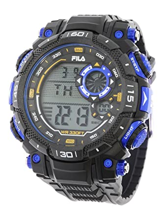Fila sportliche Herrenuhr Digital 10 BAR Licht Alarm 38-826-001 ...