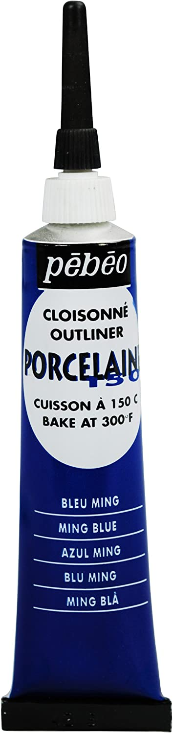 PEBEO 036-004 Porcelaine 150, China Paint Outliner, 20 ml Tube - Ming Blue
