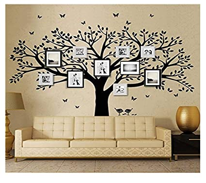 LSKOO Family Photo Frame Tree Wall Decals Family Tree Decal Living Room  Home Decor (108u0026quot
