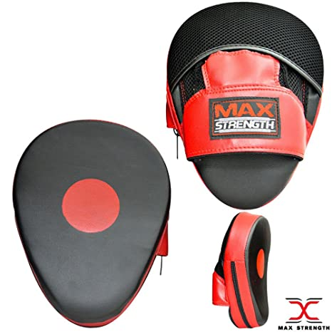 MAXSTRENGTH Boxing Mitts Punching Training Bag Gloves Sparring Martial Arts Muay Thai