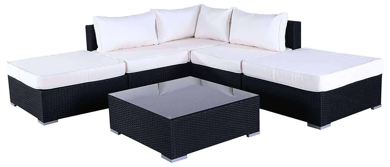 Polyrattan Couch Ecksofa Cullera (Braun)