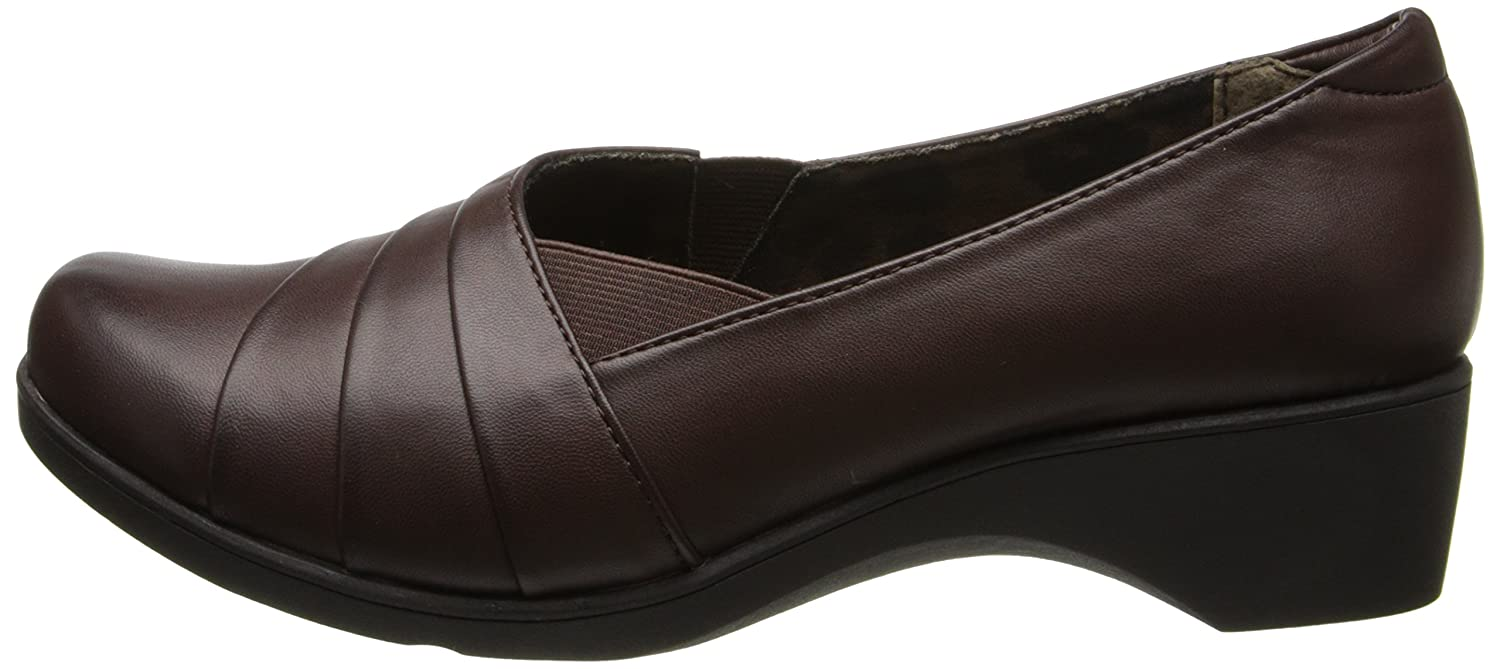 Soft Style by Hush Puppies Women's Kambra Slip-On Loafer B00HS1K9QE Burnished 7.5 B(M) US|Dark Brown Burnished B00HS1K9QE 157a13