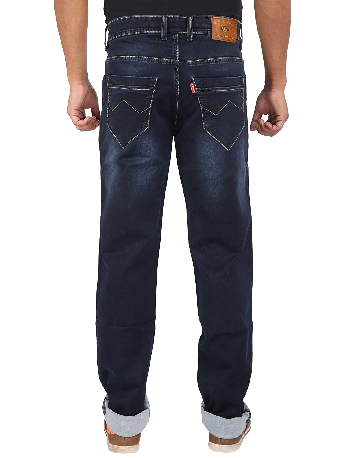 Wabba Mens Premium Knitted Stretch Slim Fit Jeans