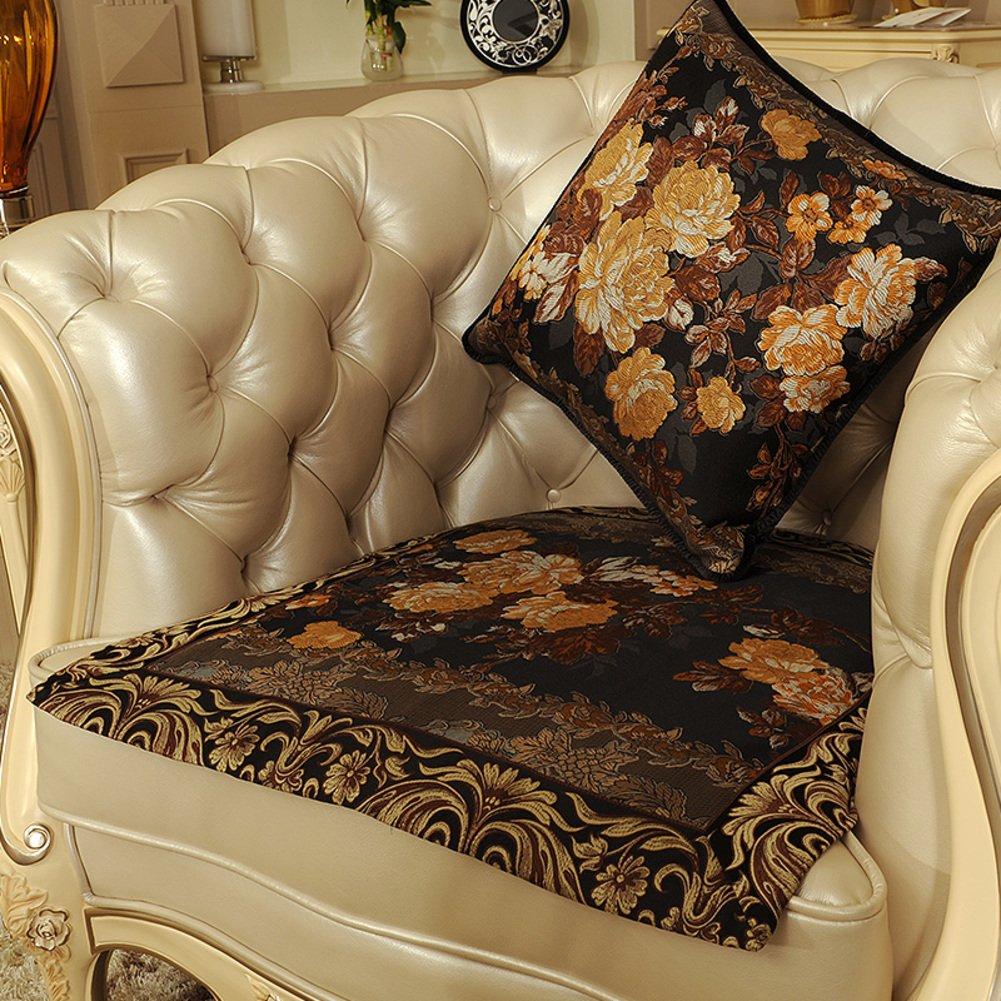 European style sofa cushions Luxury slip sofa cushions Fabric seat cushion E 70x210cm(28x83inch) by Sofa towel