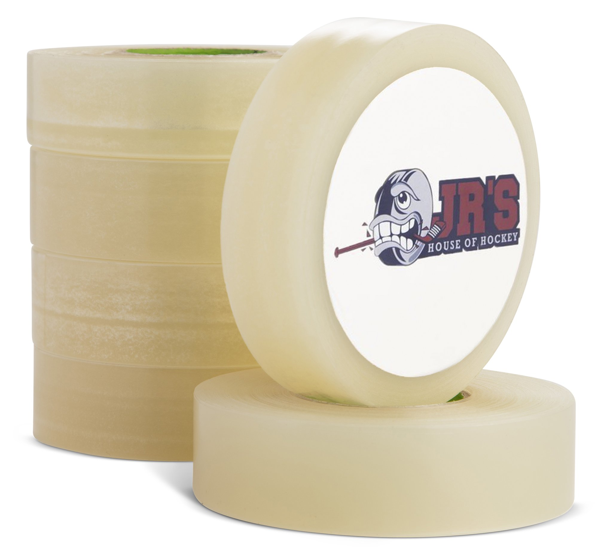 Hockey and Soccer Sports Tape (6 Pack) - Clear, Strong, Hypoallergenic Poly Athletic Tape For Shin Pads, Guards, and Socks, Adhesive Tapes For the Ice and Field, Lacrosse, Cricket and Sport Training