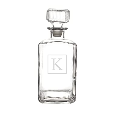 Cathy's Concepts Personalized Whiskey Decanter, Letter K