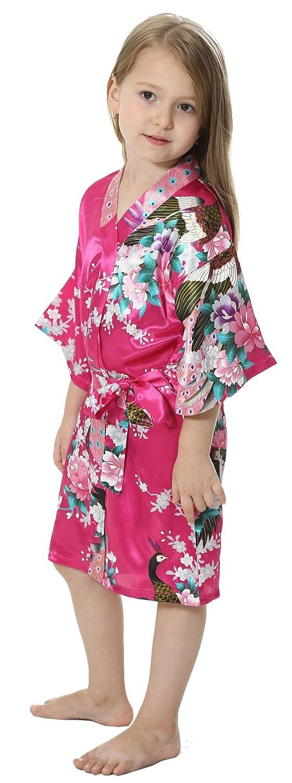 joytton Kimono Boda Albornoz de las raso niñas para spa de las niñas ...