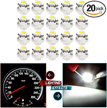 SCITOO 10 Pcs B8.4D Neo Wedge Halogen Light Bulbs Instrument Gauge Cluster Light Bulbs for A//C Climate Control Light