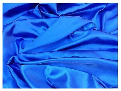 Azul Tela de raso (por metro)