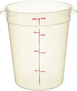 Cambro 8 qt Round Polypropylene Food Storage Container - Camwear