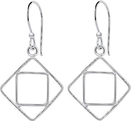 Earrings Jewellery Dangle Earrings Sterling Silver Earrings Silver Earrings Minimalist Earrings Gift For Her Heart Earrings Silver Jewellery