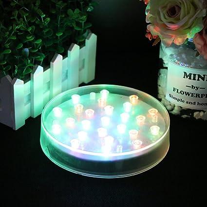 Amazon Acmee 6in Acrylic Round Led Vase Base Light With 25