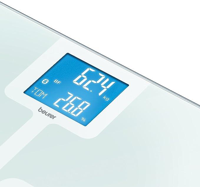 Beurer BF 800 - Báscula de baño diagnóstica Bluetooth, compatible con App en español Health Manager, blanco: Amazon.es: Salud y cuidado personal