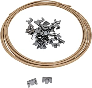 Wholesale Upholstery Supply Spring Repair Kit 16 Gauge Paper Wrapped Wire w/Sofa Furniture Stay Clips- 40 Clips, 20ft of Wire