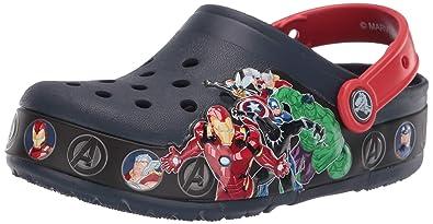 3de503c6fd4ec Amazon.com | Crocs Kids' Boys and Girls Marvel Superheroes Light Up ...