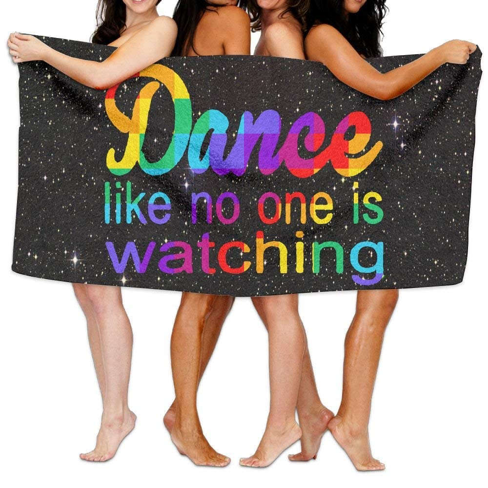 HONGYUDE Dance Like No One is Watching 100% Polyester Velvet Absorbent Towels 31 X 51 inches