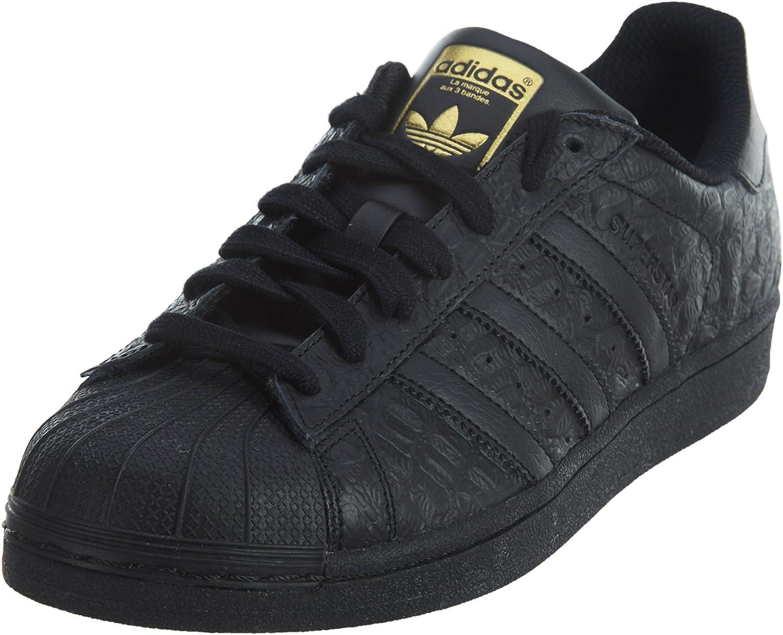 Mens Adidas Originals Superstar Croc Black Gold AQ6685