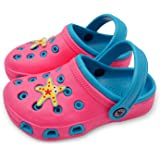 TIMETERNY Toddler Summer Sandals Boys /& Girls House Slippers Slip on Water Shoes Garden Lightweight Clogs with Backstrap for Beach or Pool