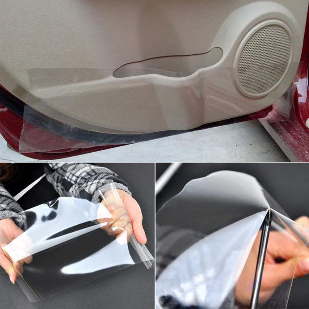 HOHOFILM 1ft x5ft Self Adhesive Clear Car Paint Protective Film PPF Vinyl Self Healing TPH Automobile Wrapping Film for Dashboard,Door Sill,Door Handle
