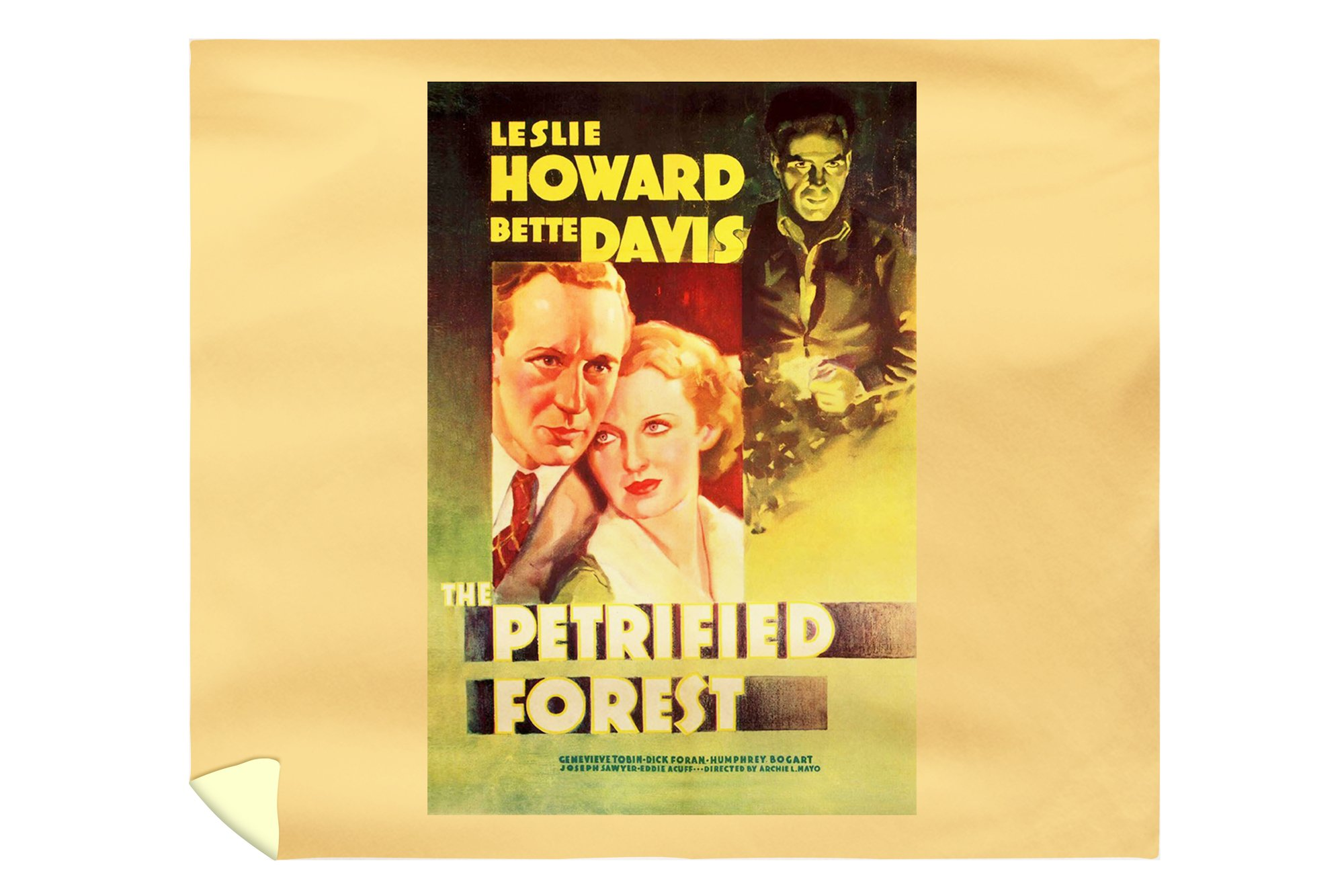 The Petrified Forest - (#2) Vintage Movie Poster (88x104 King Microfiber Duvet Cover)