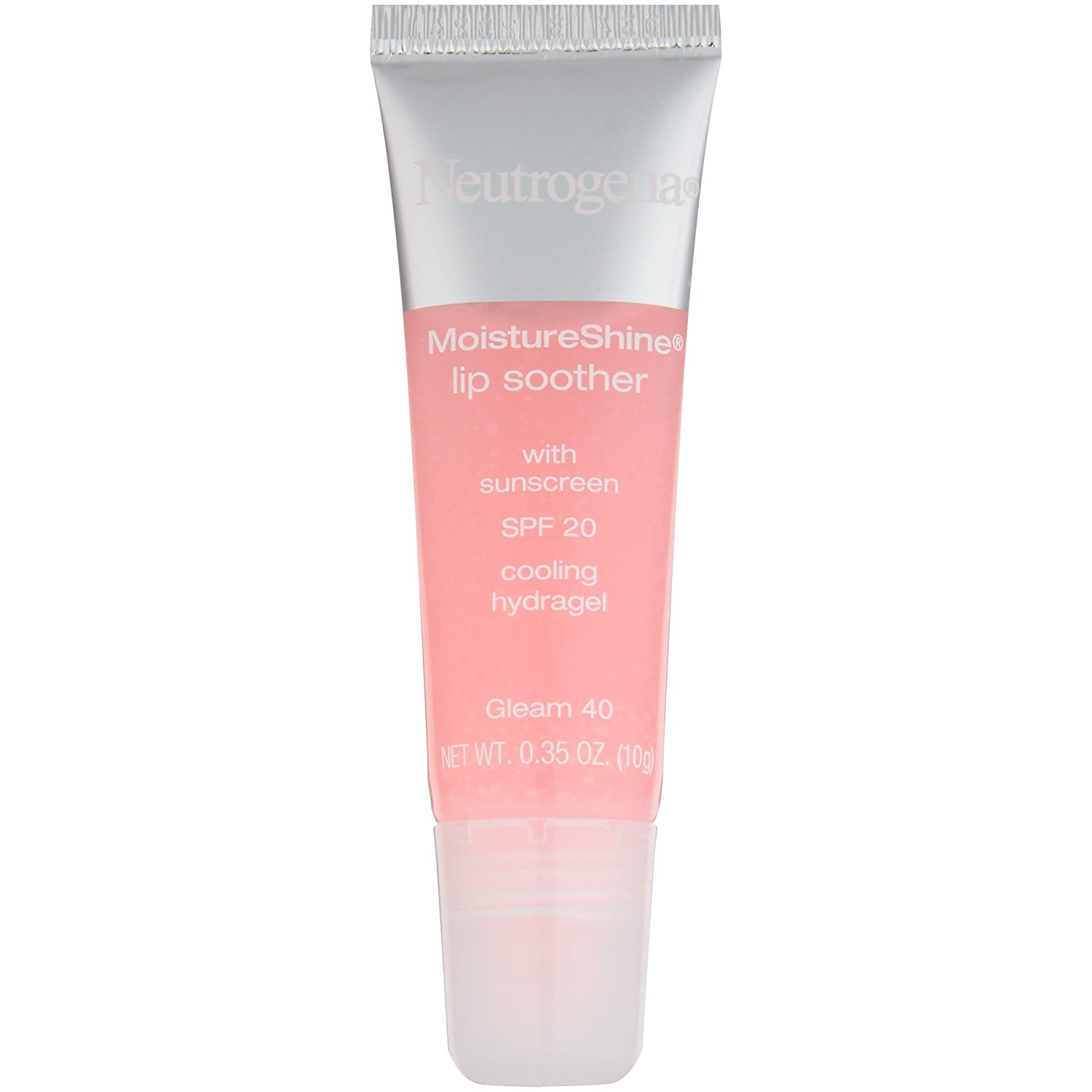 Neutrogena Moistureshine Lip Soother Gloss, Spf 20, Gleam 40, .35 Oz.