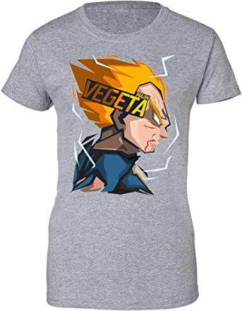 Wicked Design Dragon Ball Z Majin Vegeta Camiseta de Mujer: Amazon.es: Ropa y accesorios