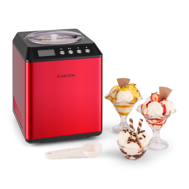 Klarstein • Vanilly Sky Family • Heladera • Yogurtera • Máquina de helados • Refrigeración retardada • Pantalla LED • 250 W • 2,5 litros • Vaso medidor de ...