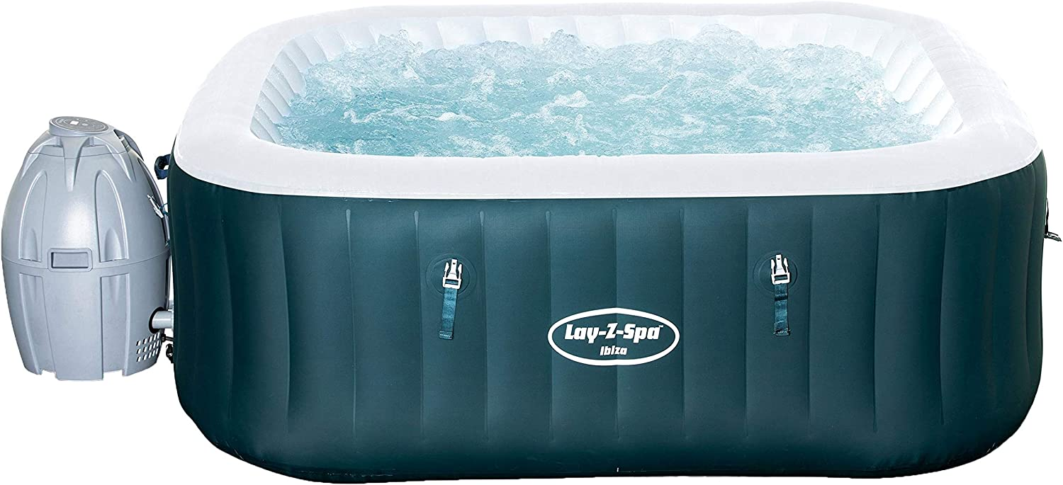 Bestway 54291 - Spa Hinchable Lay-Z-Spa Ibiza Para 4-6 personas Cuadrado: Amazon.es: Jardín