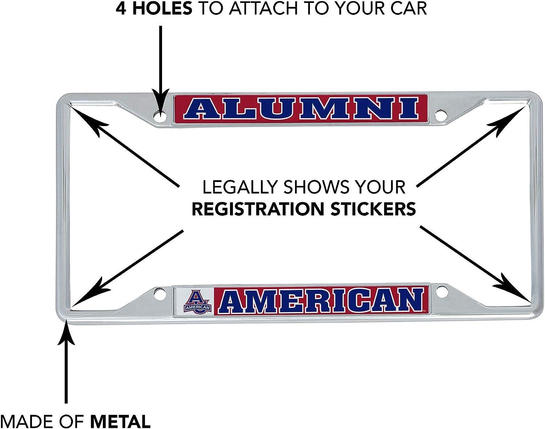Desert Cactus American University AU Eagles NCAA Metal License Plate Frame for Front Back of Car Officially Licensed Alumni