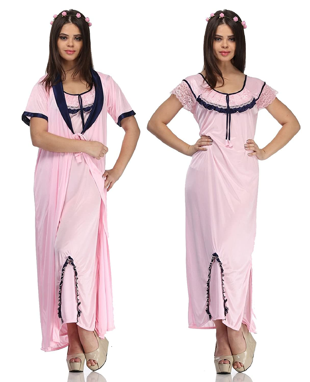 Familina Sexy Robe Nighty for Woman in Satin  c1882eede
