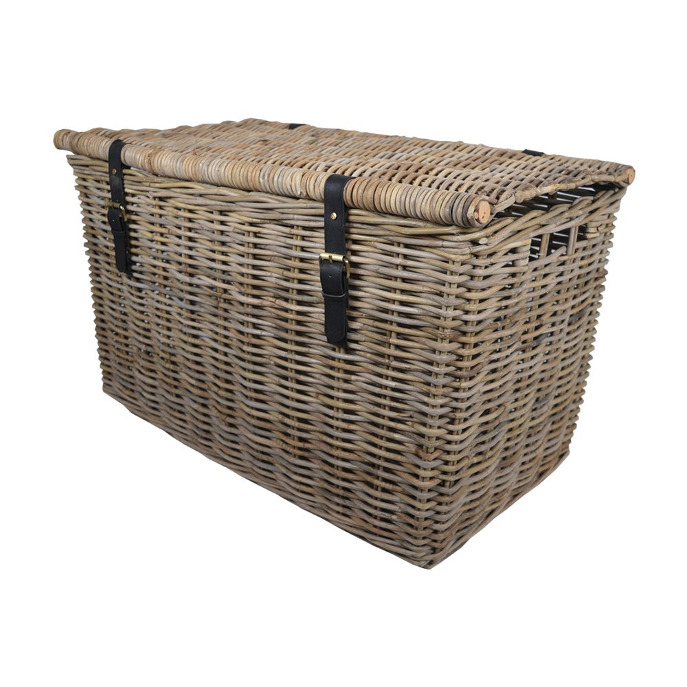 Kubu Rattan Large Storage Hamper W83 x D48 x H51cm/ Trunk/Basket / Toy Box/Gift Hamper Wovenhill