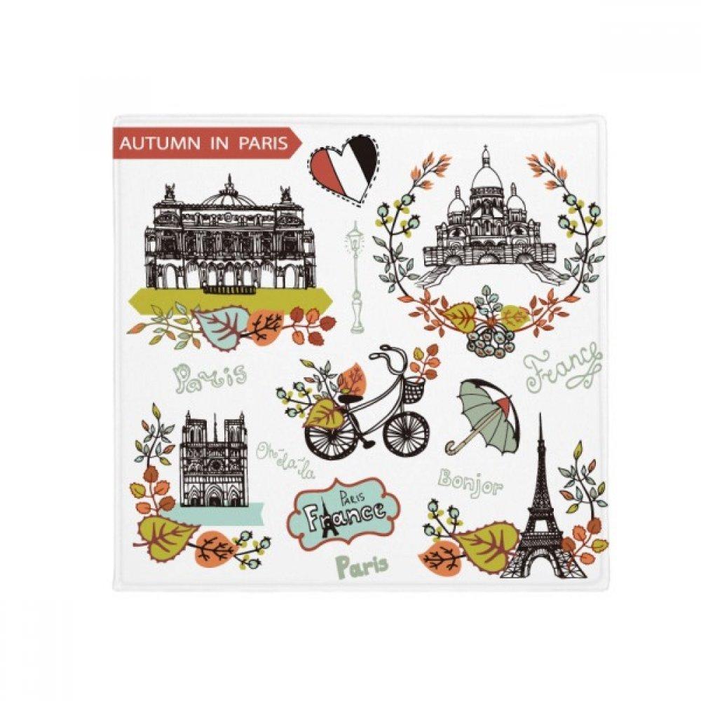 DIYthinker Autumn Eiffel Paris France Graffiti Anti-Slip Floor Pet Mat Square Home Kitchen Door 80Cm Gift