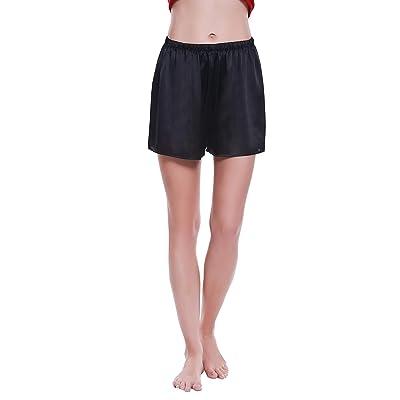 100% Mulberry Silk Shorts- Womens Pajama Shorts- Soft Sleepwear Lounge Shorts- Sleeping Shorts for Women at Amazon Women's Clothing store