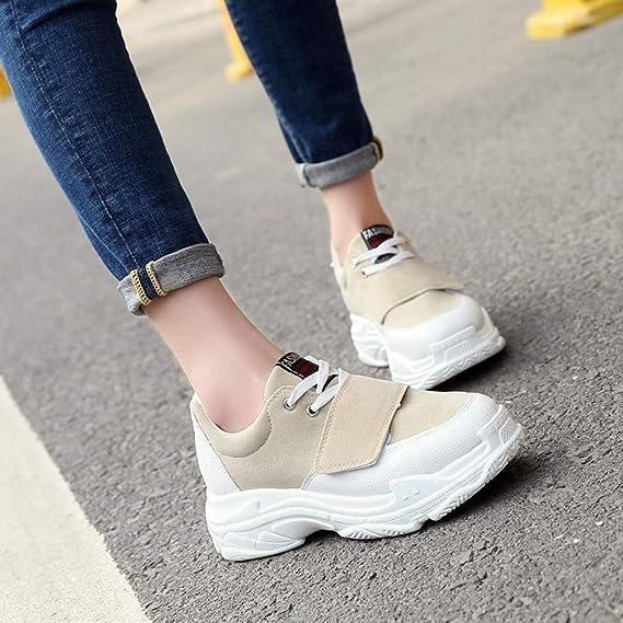 Zapatillas de Entrenamiento para Mujer,BBestseller Calzado Deportivas de Mujer Sneakers Cuña Botines Casual plataforma de gamuza Zapatos: Amazon.es: Ropa y ...