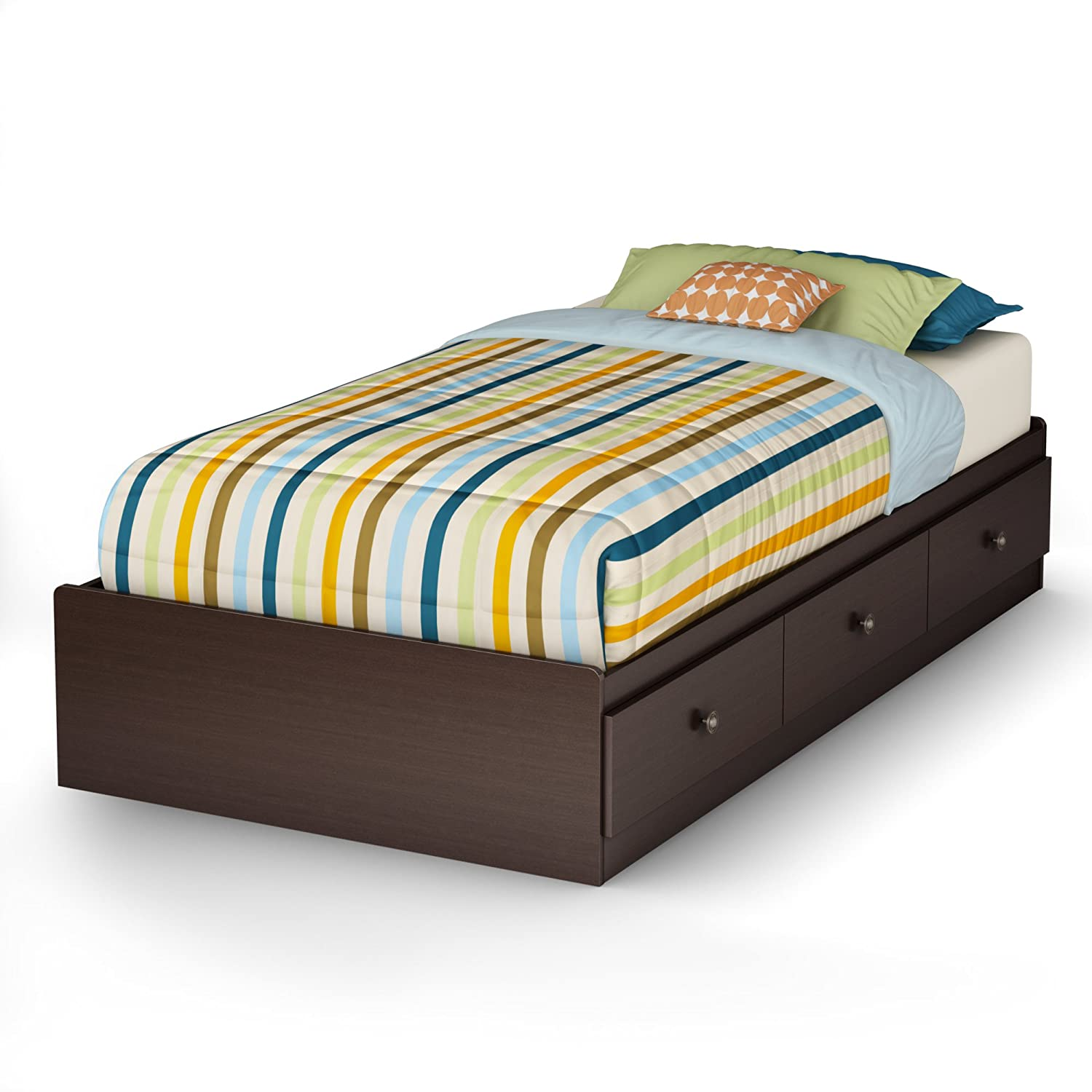 Amazon South Shore Zach Storage Bed Twin Chocolate Kitchen