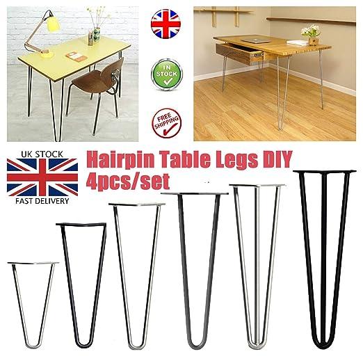 4 patas de mesa de horquilla para muebles de bricolaje, patas de ...