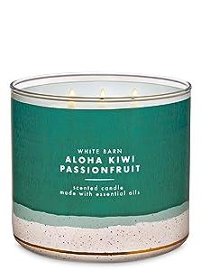 Bath and Body Works Aloha Kiwi Passionfruit Scented 3 Wick Candle - 14.5 oz (passionfruit, kiwi, pineapple)