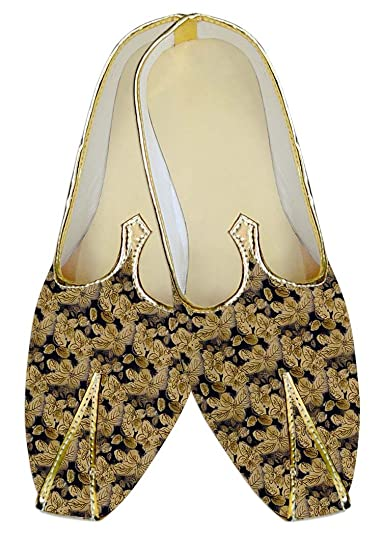 Mens Bisque Wedding Shoes Flower Printed MJ015980