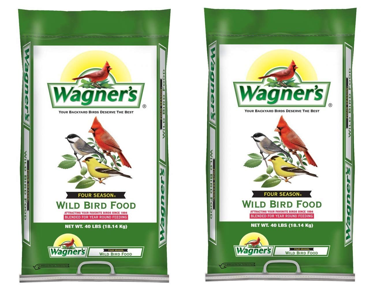 Wagner's 13013 Four Season Wild Bird Food, 40-Pound Bag (2 Bags) by Wagner's