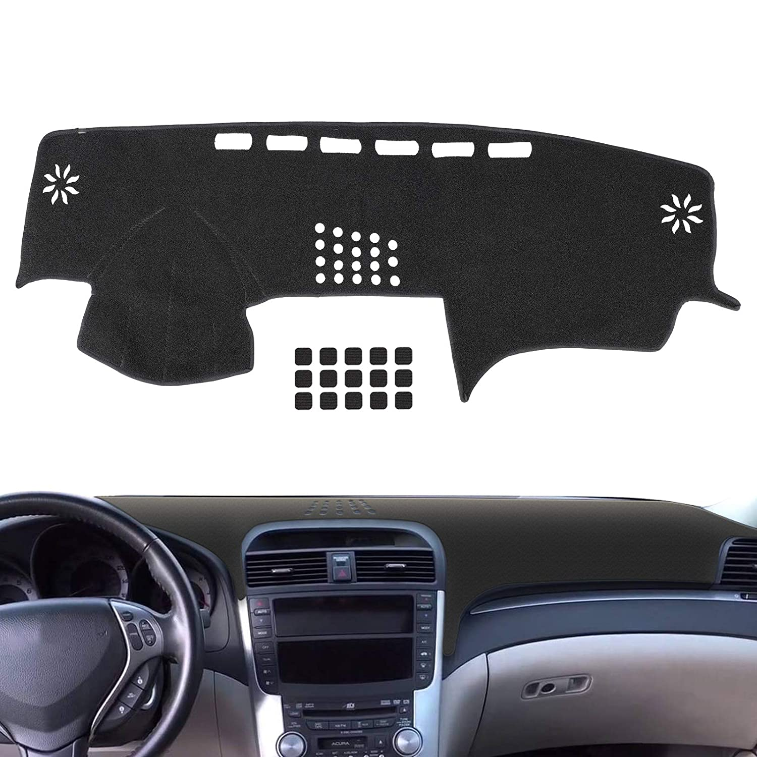 EEEKit Dashboard Cover Dashmat Sun Cover Pad Fit for Acura TL 2004-2008