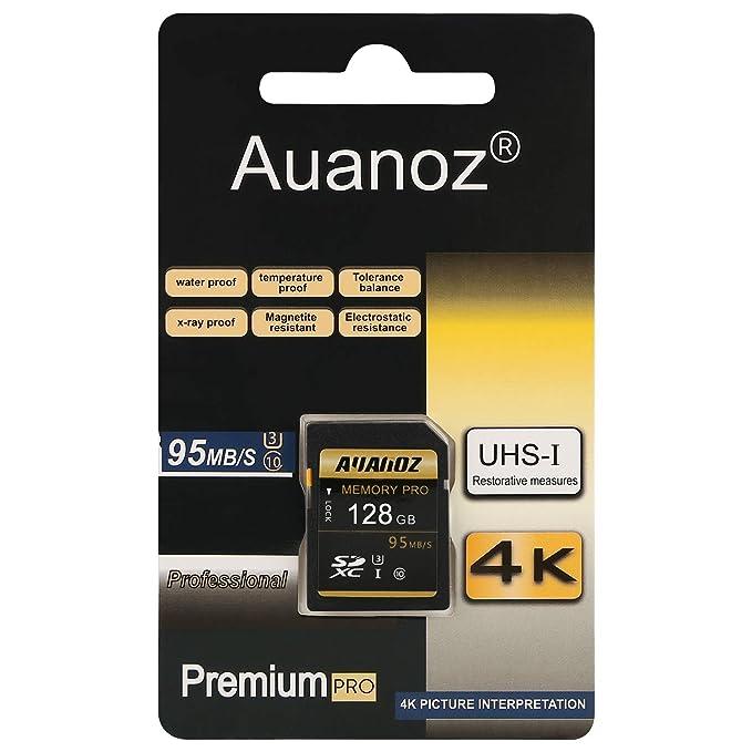 Auanoz Tarjeta SD de 128 GB SDXC Clase 10 UHS-I Tarjeta De Memoria ...