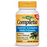 Nature's Way Completia Diabetic Multivitamin (iron-free), 90 Tablets (Packaging May Vary)