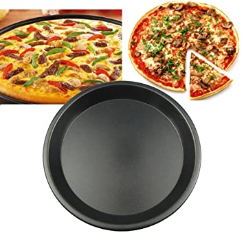 Bandeja Bandeja para hornear Bandeja para hornear pizza No pegajosa Pizza redonda Placa para pizza 5
