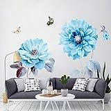 Alicemall Wall Sticker Adesivi da Parete Adesivo Murale Fiori Decorazione Fai da Te in PVC (Stile 7) 90cm x 60cm