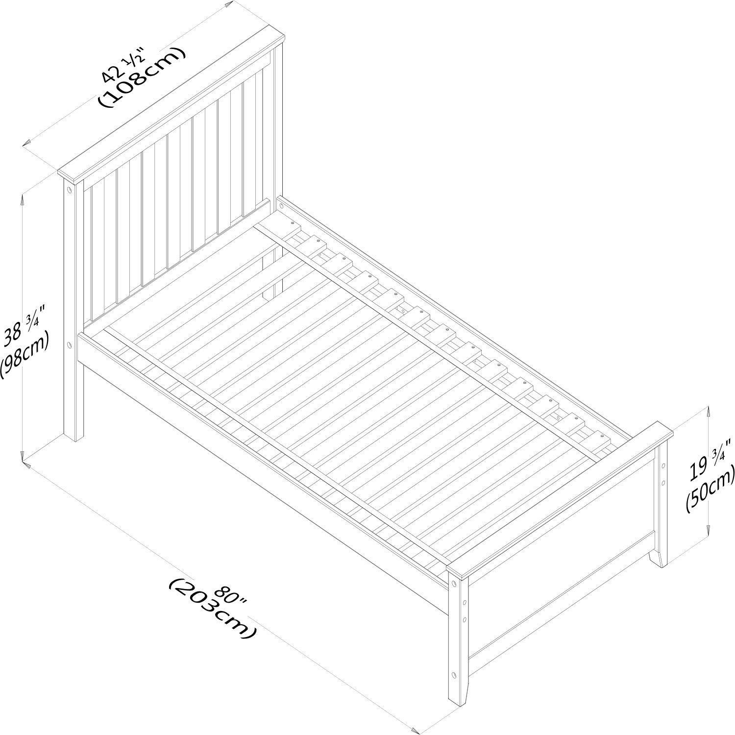 Max & Lily Solid Wood Twin-Size Bed with Under Bed Storage Drawers, Natural by Max & Lily (Image #10)