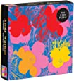 Andy Warhol 500 Piece Jigsaw Puzzle with Flowers, Andy Warhol Art Foil Puzzle with Vibrant Flowers