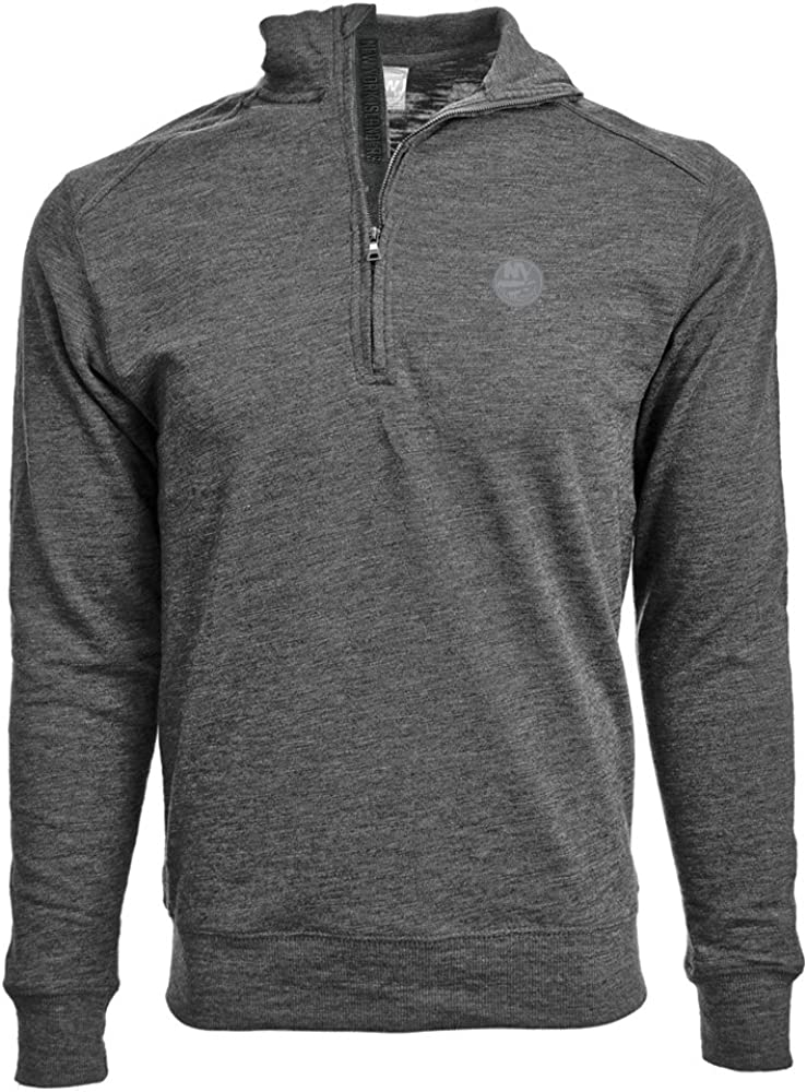 NHL Mens Hudson Faux Show Text Quarter Zip Pullover