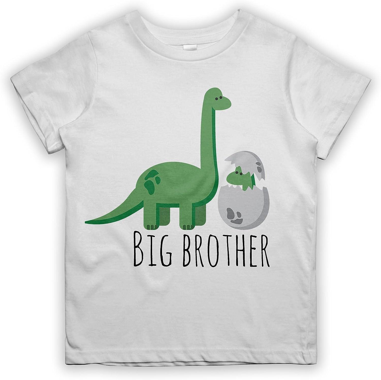 RiotBunny Big Brother Dinosaur Dino Newborn Sibling per Bambino T-Shirt Maglietta