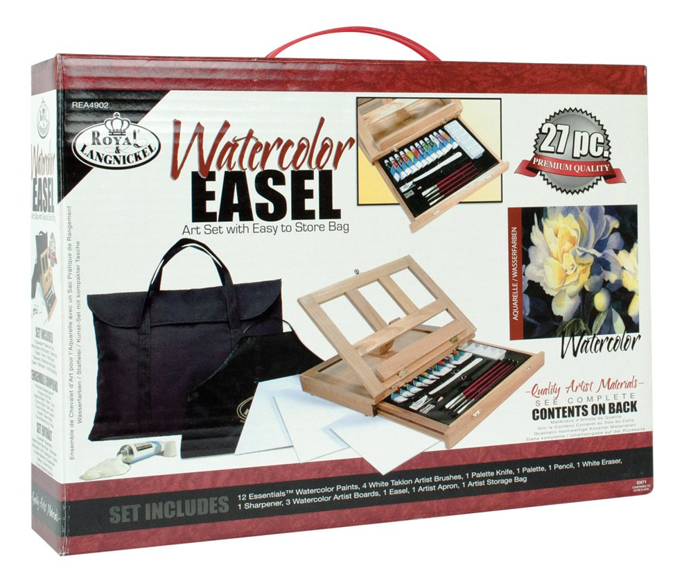 Royal /& Langnickel REA4902 Watercolor Easel Art Set with Easy to Store Bag