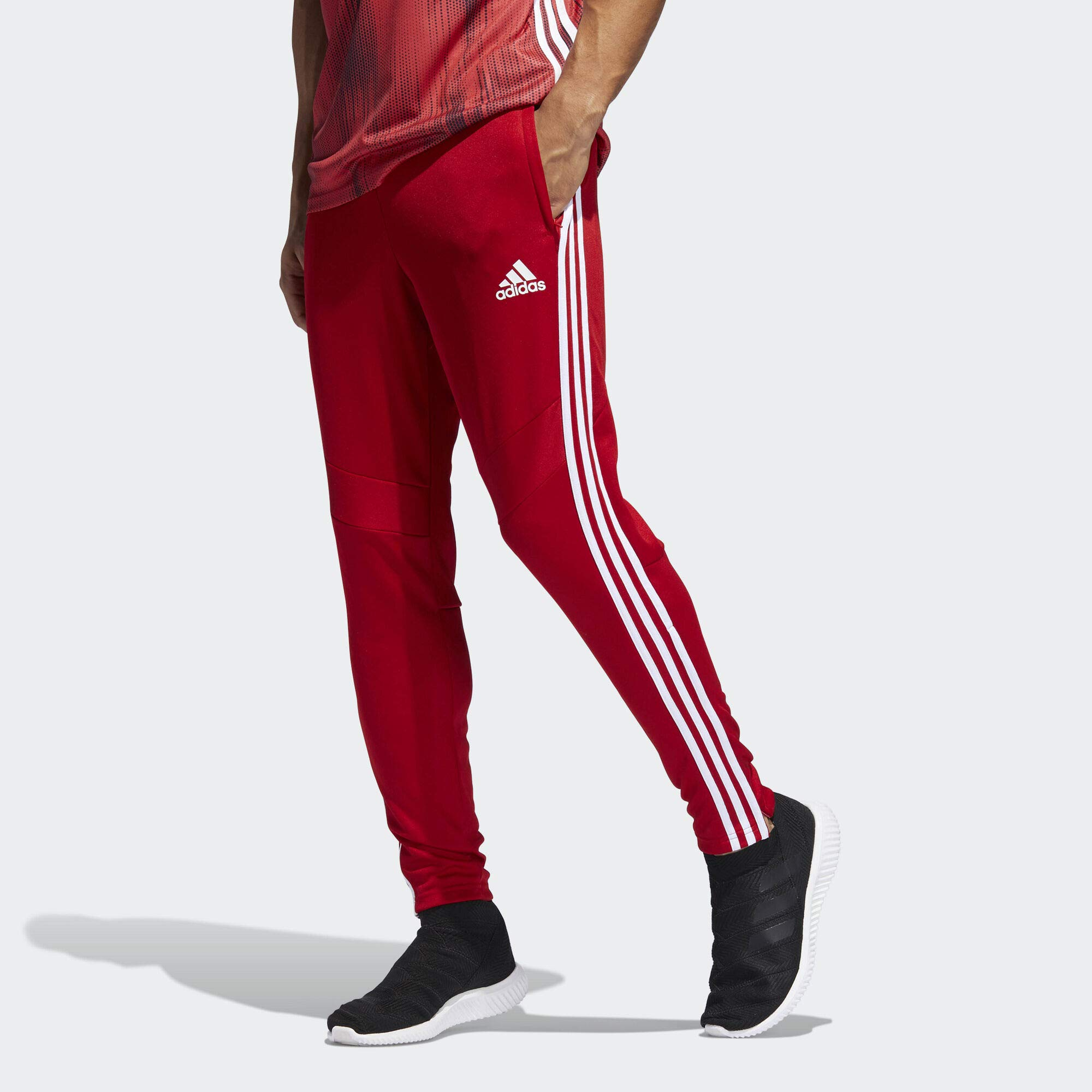 adidas Men's Tiro 19 Training Soccer Pants, Tiro '19 Pants, Power Red/White, Large by adidas